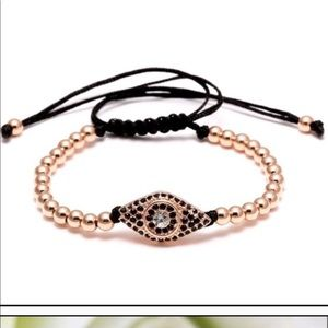 Evil Eye Bracelet Rose Gold